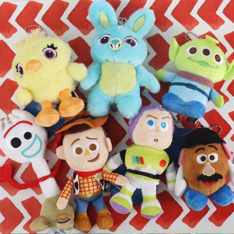 Toy Story 4 Forky Ducky Bunny Piggy Soft Stuffed Plush Toys Xmas Gift 4Pcs Set