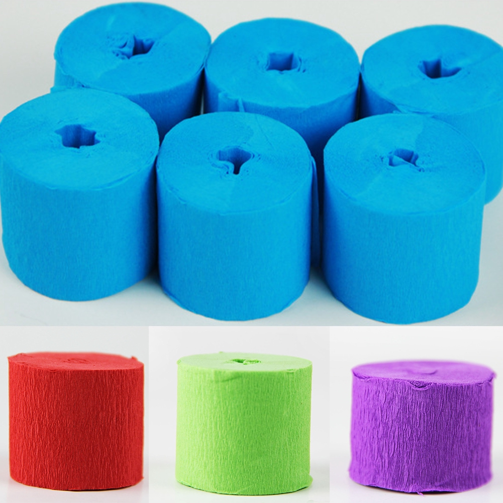 9M Multi-Coloured Crepe Paper Streamer Roll Wedding Party Bunting Home Decor New