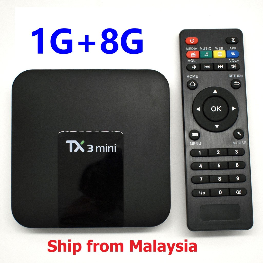 TX3 mini Android 7 1 Smart TV BOX 4K WiFi Media player TX3mini 1G 8G 16G