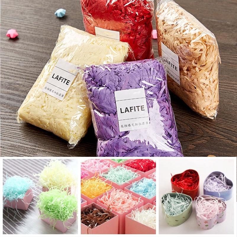 100g Filler Package Pack Shredded Tissue Paper Baker Wrap Gift Fit Box Bags