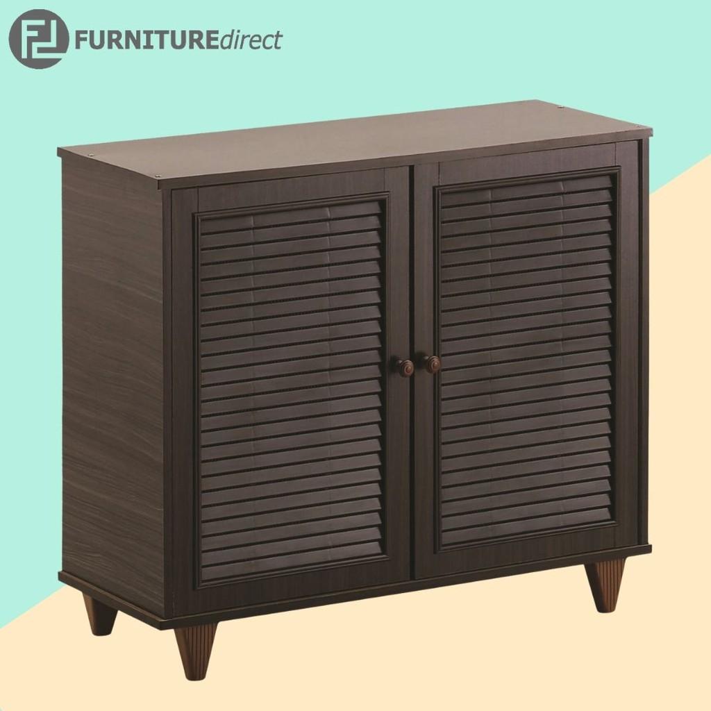 ALMO 2 door shoe cabinet with louver/ kabinet kasut/ rak kasut