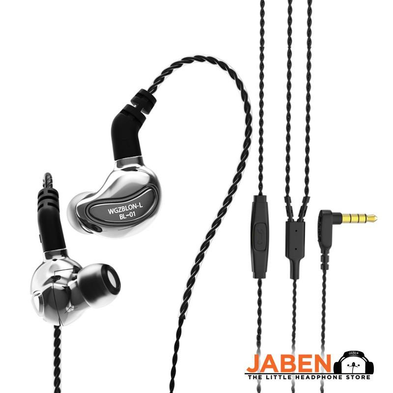 BLON BL-01 10mm Biology Fiber Diaphragm Driver In-Line Mic Detachable 2-pin 0.78mm Cable In-ear Earphones BL01 [Jaben]