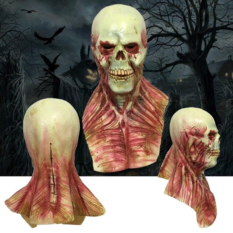 Halloween Scary Bloody Zombie Skeleton Face Mask Costume Horror Latex Mask NEW
