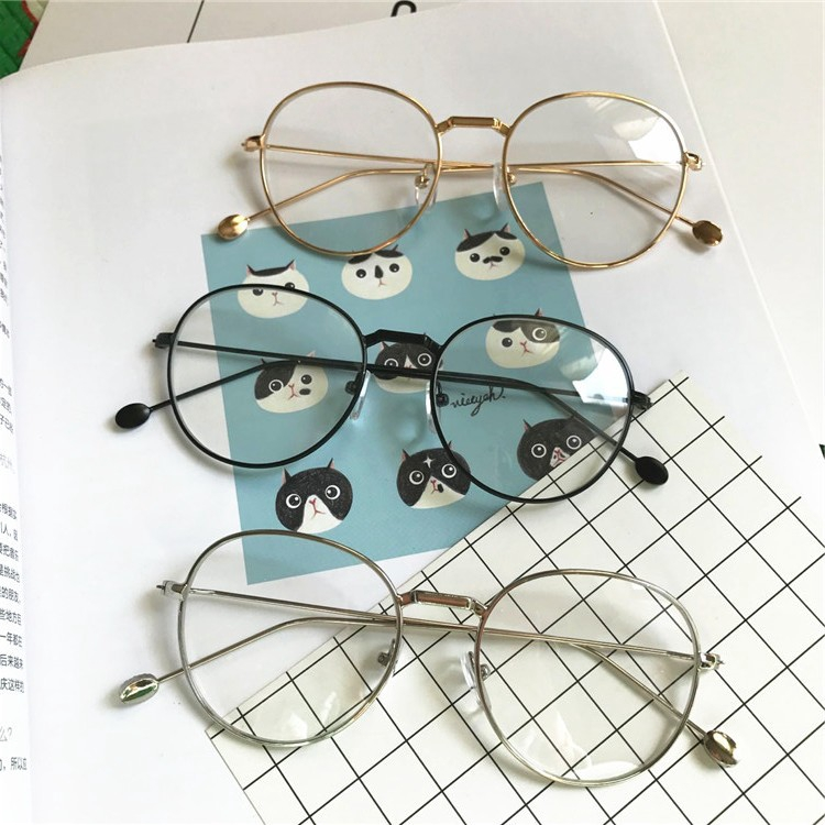 f4377b5066f 💘Stylish Unisex Tide Optical Glasses Round Frame Eyeglasses Eye Wear