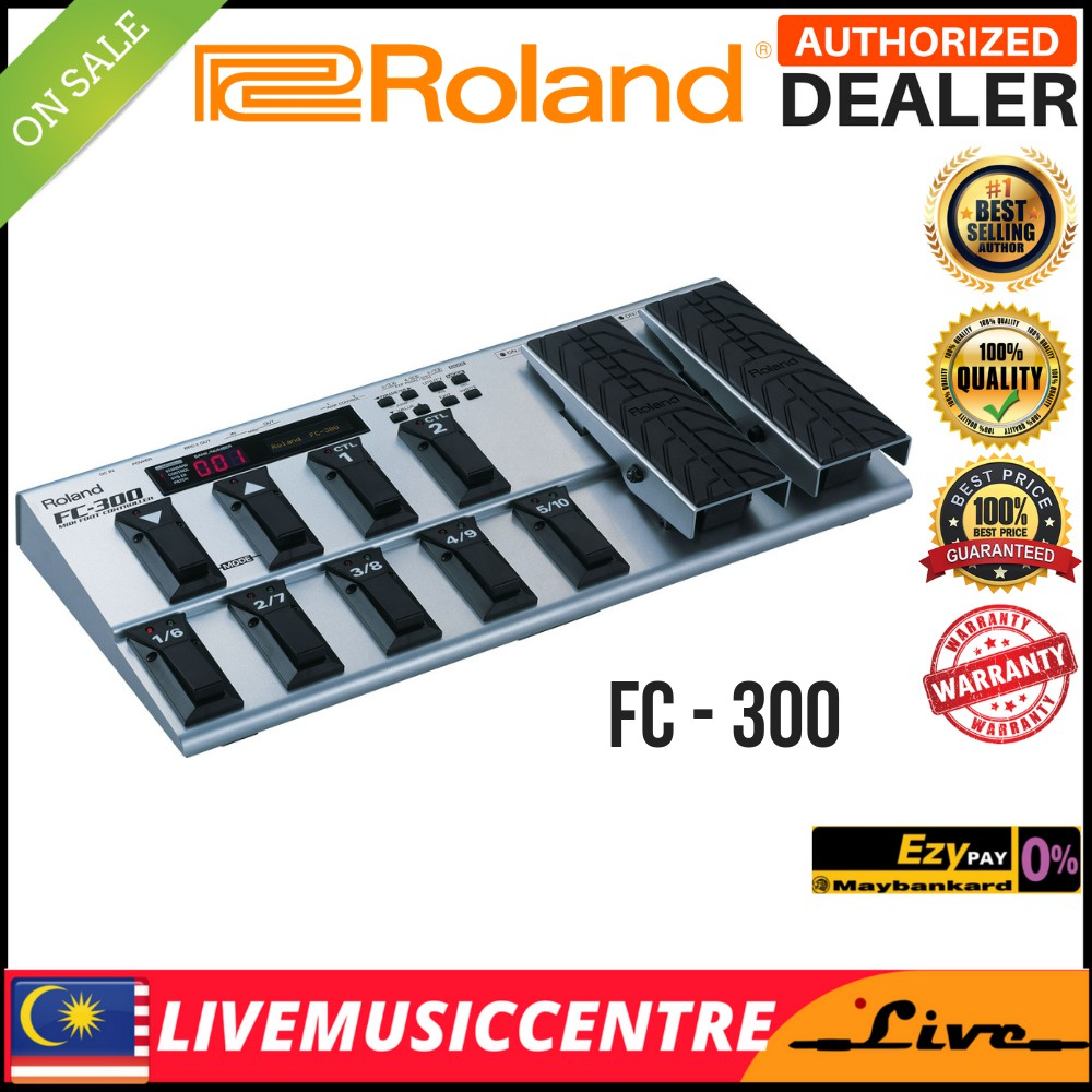 Roland FC-300 MIDI Foot Controller Amplifier Effect Pedal (FC300)