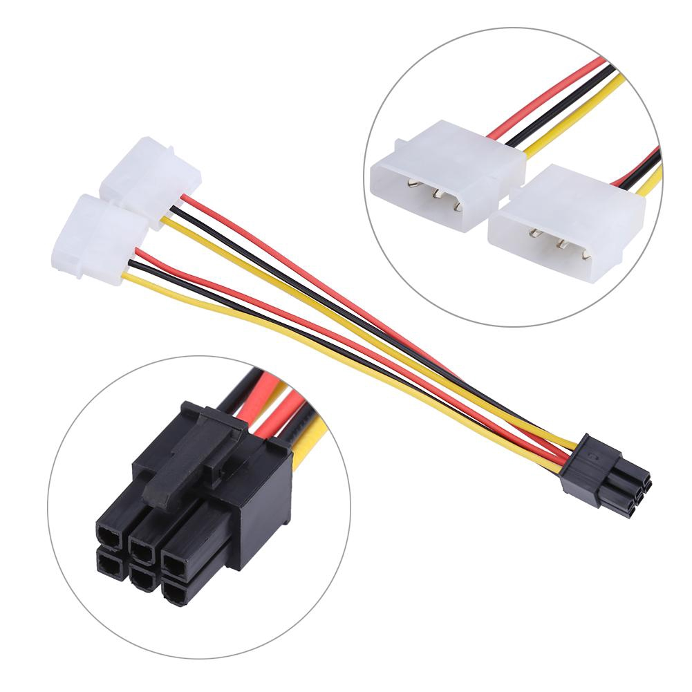 Computer Cables 5pcs//lot SATA 15 Pin Male M to PCI-e pcie pci-Express pci Express Card 6 Pin Female Graphics Video Card Power Cable 15cm Cable Length: 15cm