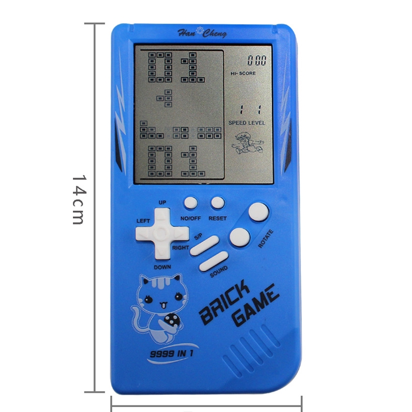 Hot Game Console Handheld Game Console Big Screen Tetris Game Console Classic Nostalgic Children S Toys Shopee Malaysia