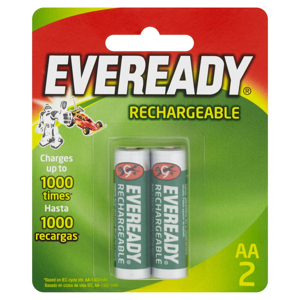 Eveready Rechargeable Battery AA 2Pcs
