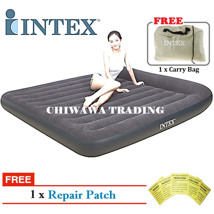 PROMOTION 64141 64142 64143 64144  INTEX Inflatable Bubble Air Mattress Relax Massage Air Bed Sofa