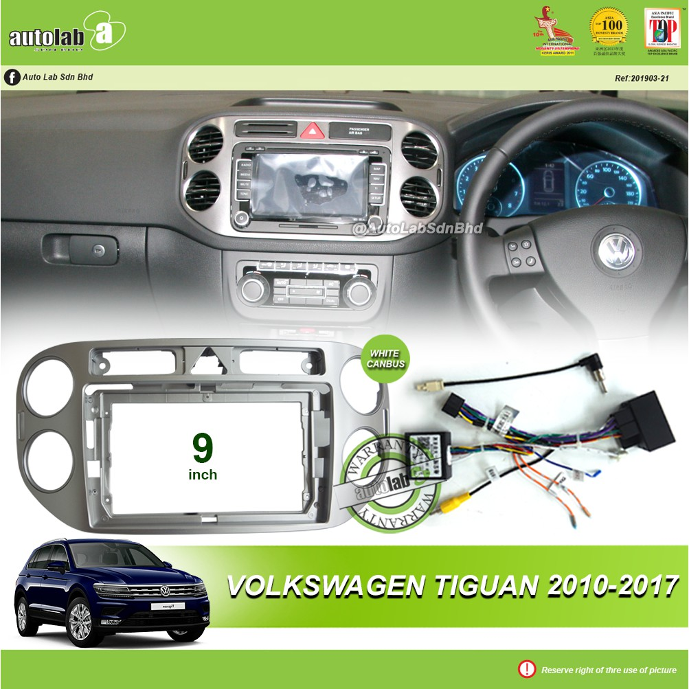 """Android Player Casing 9"""" Volkswagen Tiguan 2010-2017 (with Socket VW & VW Canbus Module + Antenna Join )"""