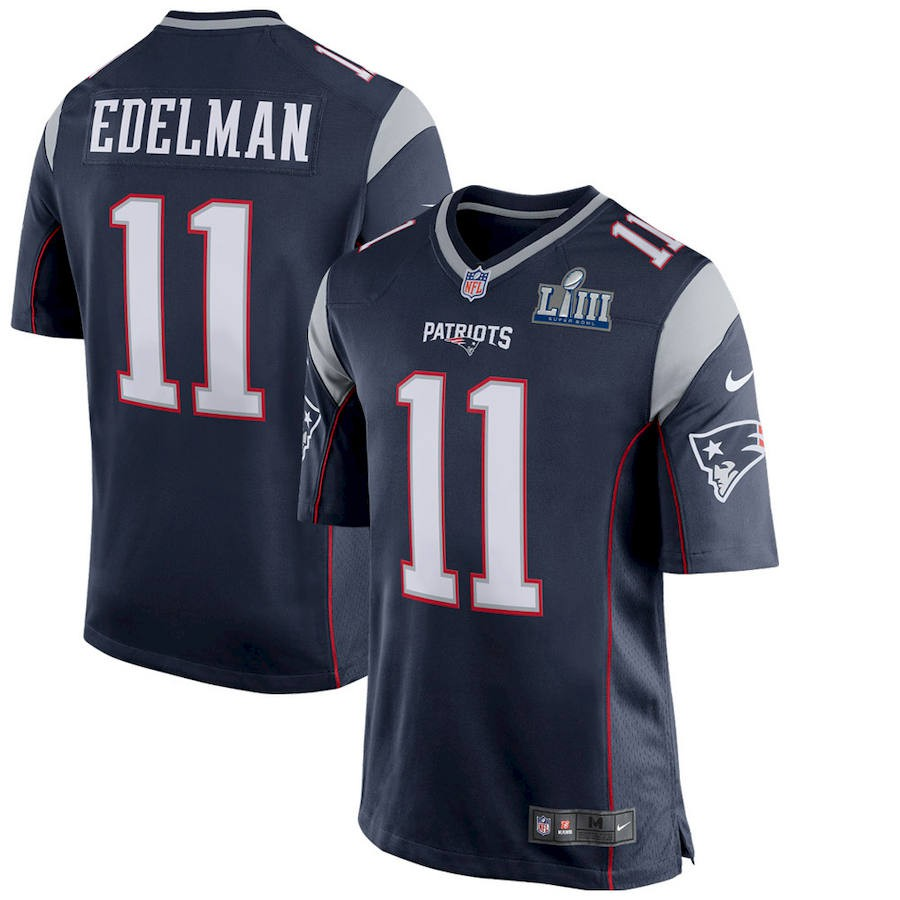 premium selection d59d3 7a0c7 Julian Edelman New England Patriots Nike Super Bowl LIII Bound Game Jersey
