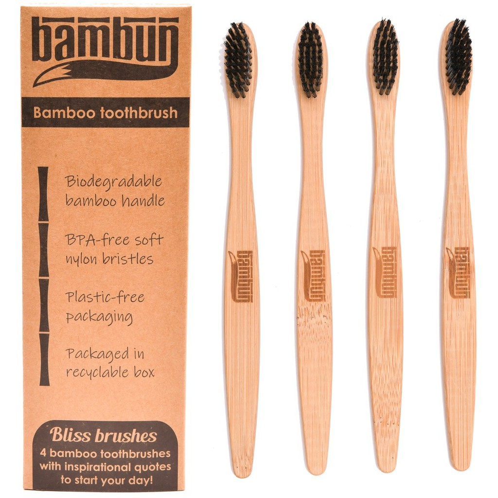 Bambun Bamboo Toothbrush – Black