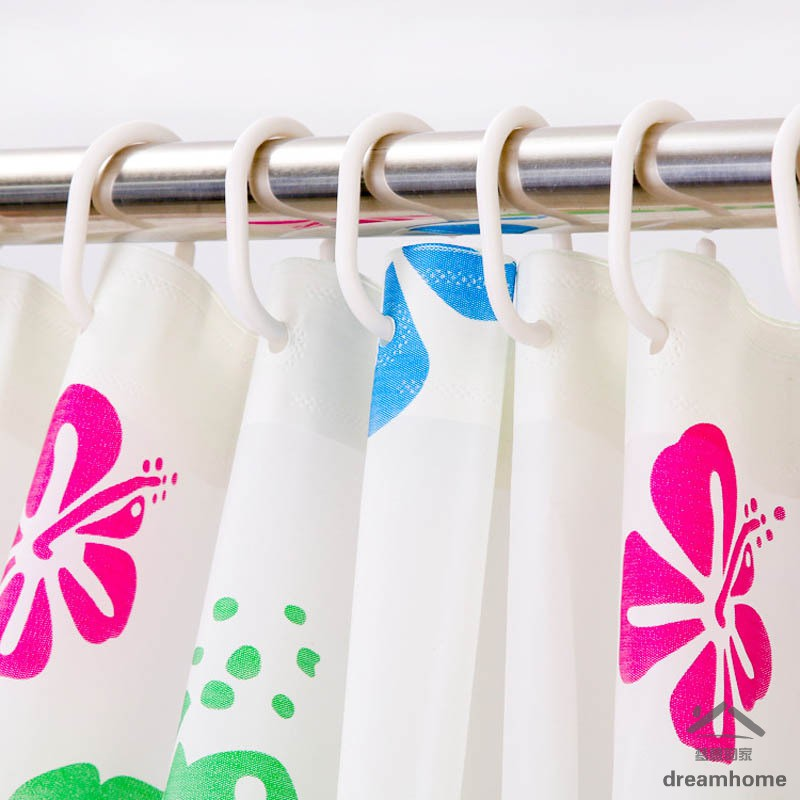 Shower Curtain Hook Hanger Ring Bath Drape Loop Clasp Clip Glide Replacement ONE