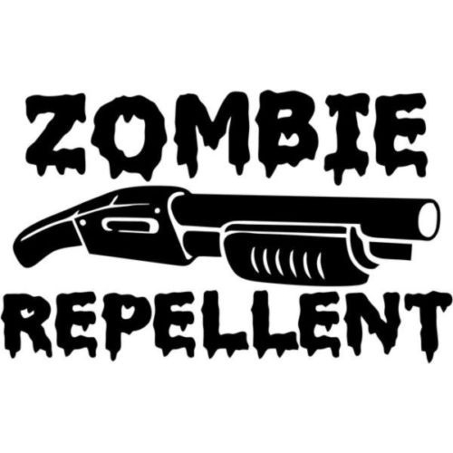 "RESPONSE VEHICLE ZOMBIE Vinyl Decal Sticker-6/"" Wide White Color"