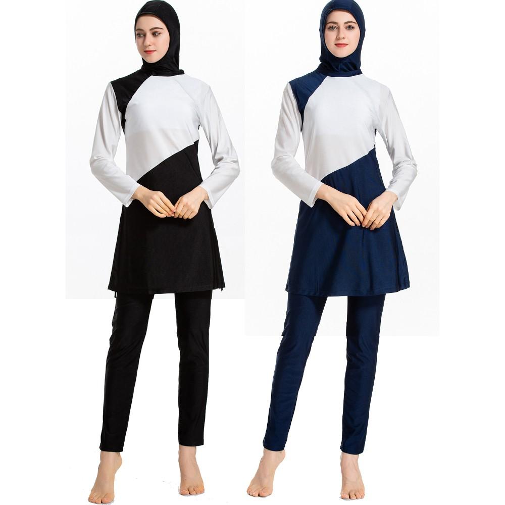 c2b8798e0d7ff XS-4XL Women Muslim Swimwear Beach Bathing Suit Muslimah Islamic Swimsuit |  Shopee Malaysia