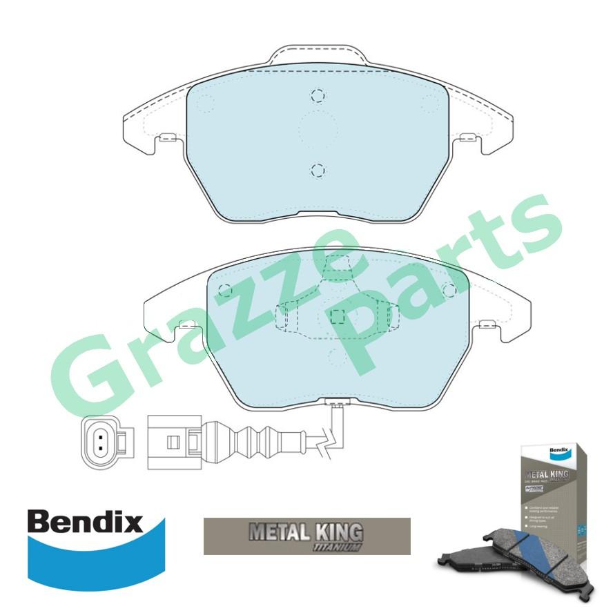 Bendix Metal King Titanium Disc Brake Pad Front for DB1849 Volkswagen Golf Jetta Passat
