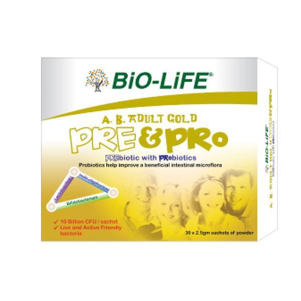 Bio-life AB Adult Pre & Pro Probiotics 10 Billion CFU 2box X 30sachets