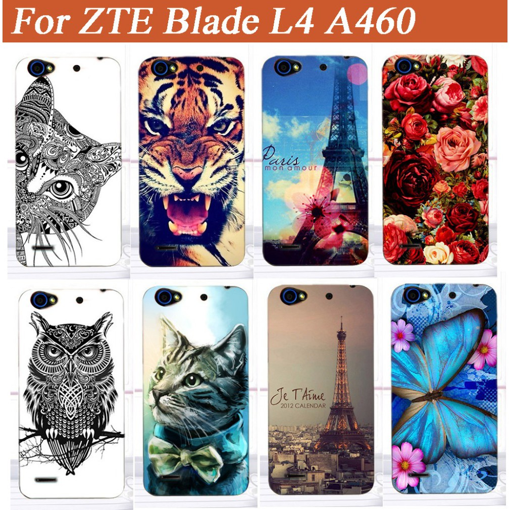 sale retailer 84bb1 0da25 14 patterns Painting Phone Case For ZTE Blade L4 A460 5.0