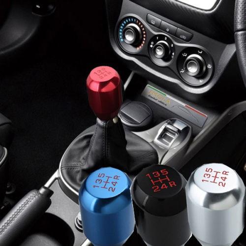 Universal Manual Aluminum Transmission Car Gear Shifter Shift Lever Knob 5  Speed