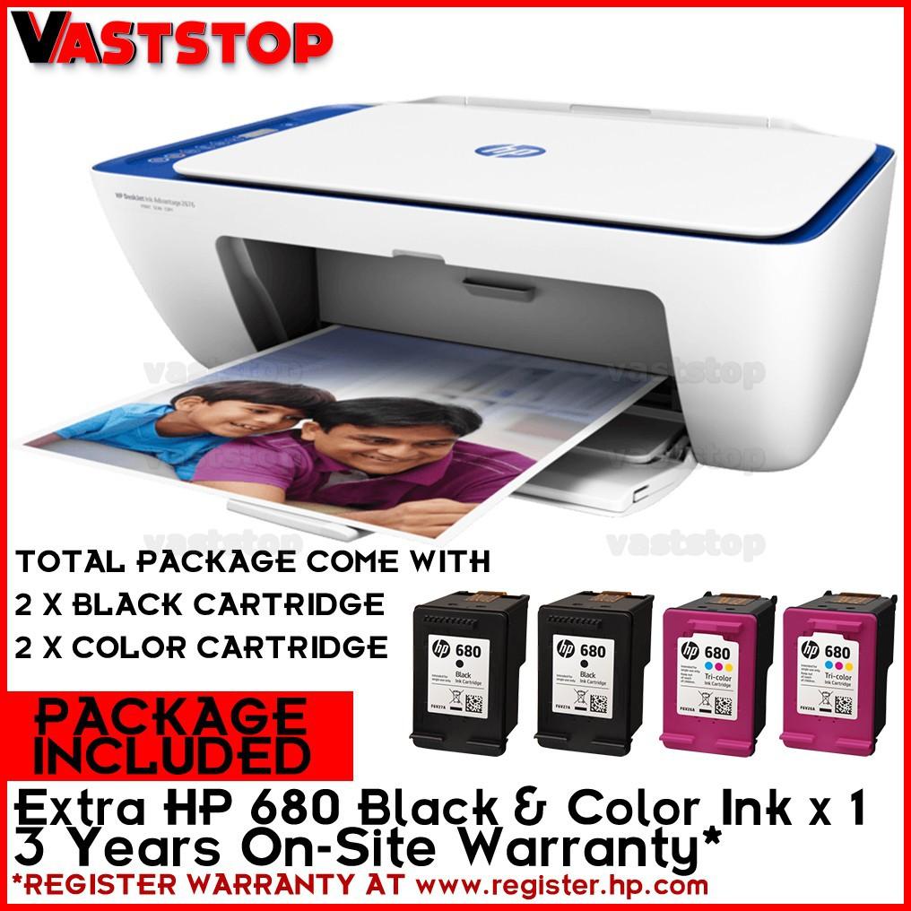 HP DeskJet Ink Advantage 2676 (WIFI,Print,Scan & Copy) Free HP 680 Combo Ink