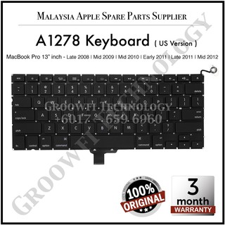 "100/% Genuine A1278 US Keyboard /& BackLight For Apple Macbook Pro13/""  2009-2012"