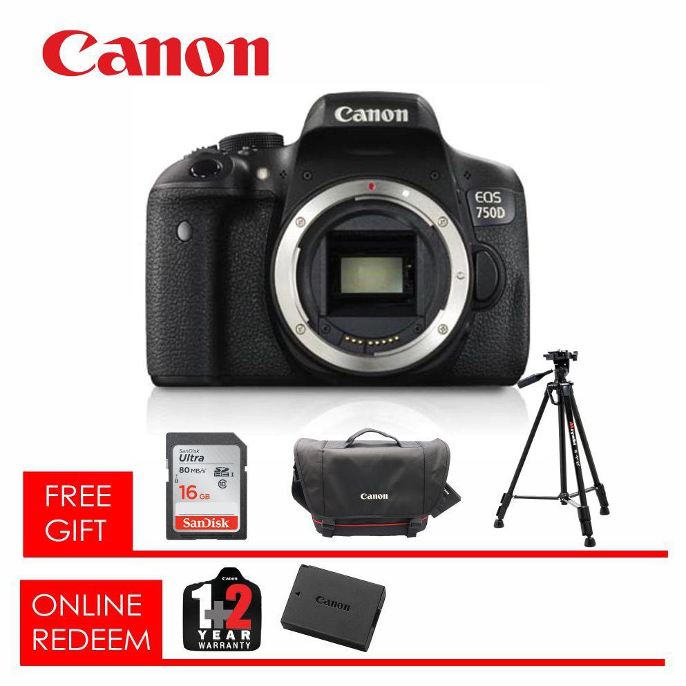 Canon Eos 750d Camera Body Only Shopee Malaysia 760d Dslr 760 Bo