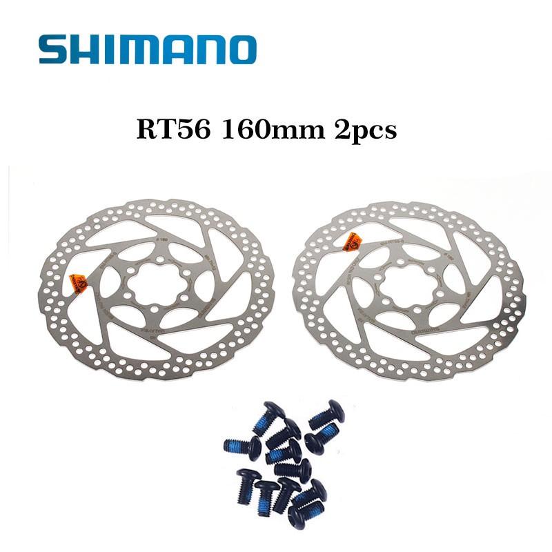 SHIMANO SM-RT56 Brake Rotors Avid HS1 G3 Disc Brake 6 Bolt Rotors 160//180mm 2Pcs