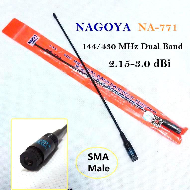 NAGOYA NA-771 Dual Band Antenna For Yaesu PUXING TYT Wouxun Walkie Talkie  Male