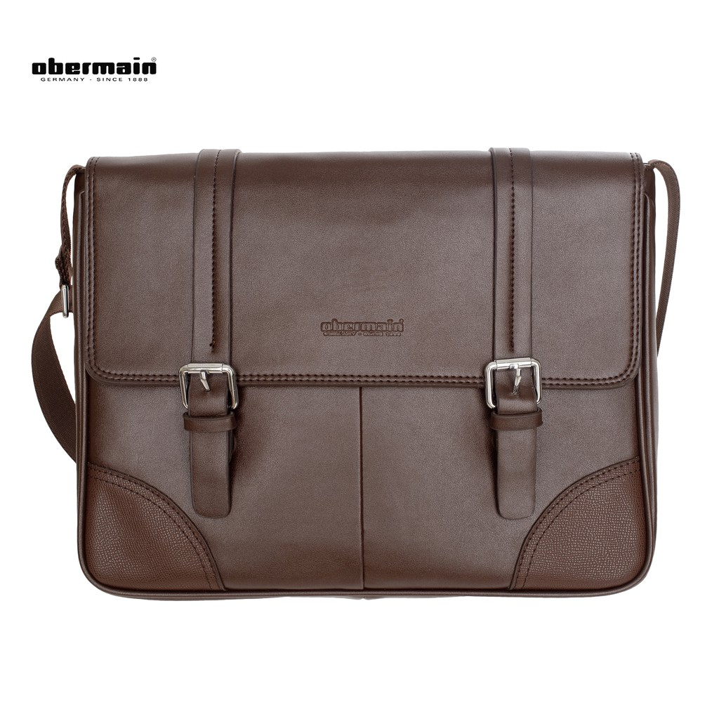 Obermain Men s Messenger Bag - Brown  67504705c9