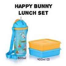 [READY STOCK]Tupperware Happy Bunny Lunch Set