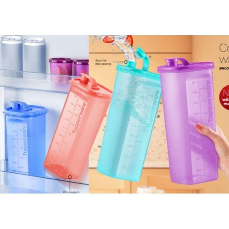 READY STOCK Tupperware (1PC or 2PC) Fridge Water Bottle Chill Fresh Pourer Smiley Pouch 2L 2.0L 2000ml