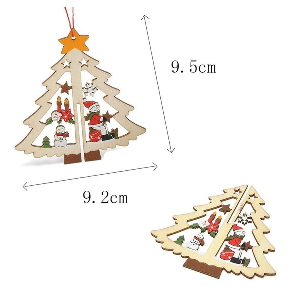 6PCS SET Gift Bell Decorations Hanging Xmas Tree Pendant Christmas Decor 3D