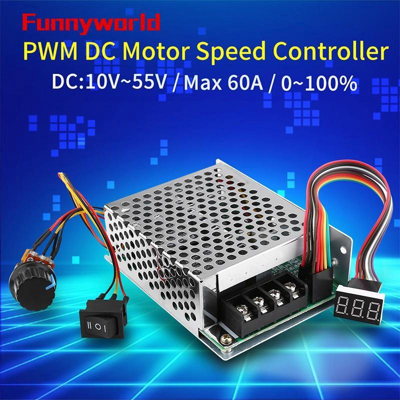 Equipement électrique, d'essai 60A DC Brushed Motor Speed Control PWM HHO RC Controller 12V 24V 48V 3000W TE573 Équipements professionnels