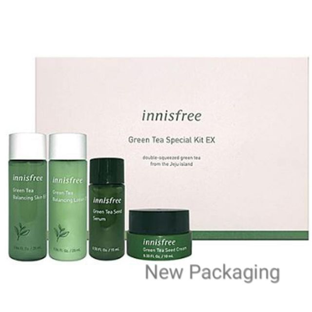Innisfree Green Tea Special Kit EX (4 items) New Packaging 2019
