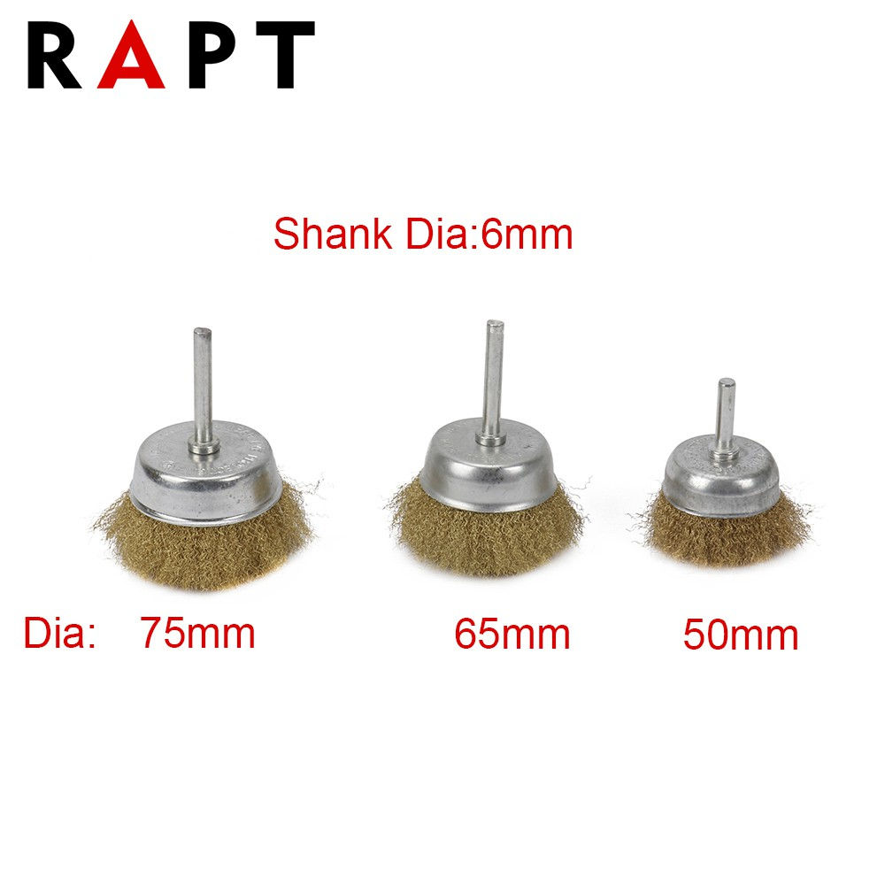 """10 Pack 2/"""" Crimped Wire Cup Brush Carbon Steel 1//4/"""" Shank for Die Grinder"""