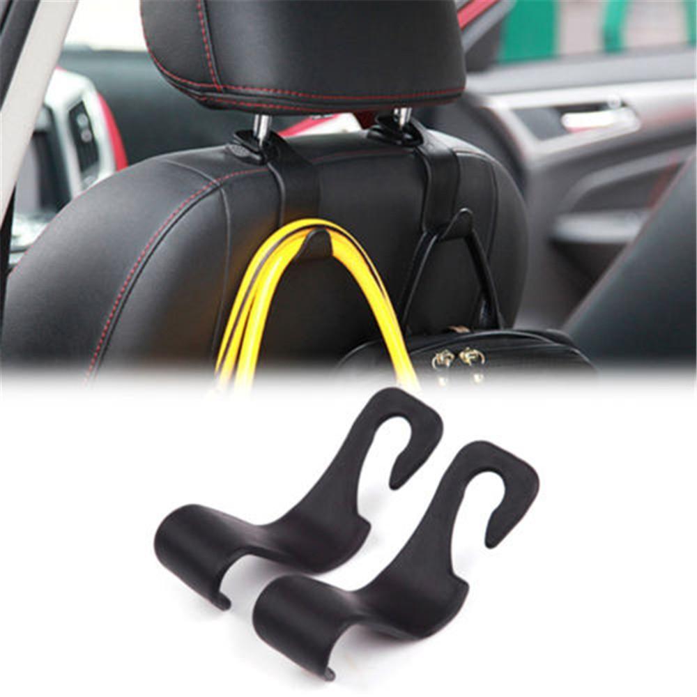 1pc Car Exact Fit Back Seat Headrest Hanger Hook Holder For Bag Groceries