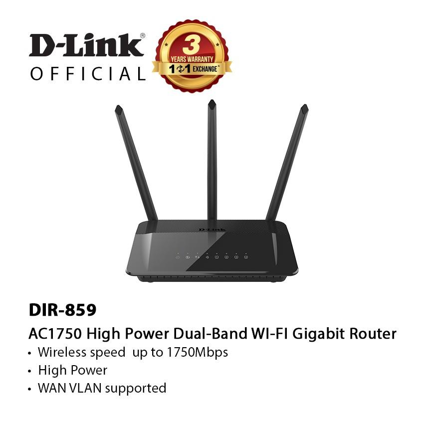 D-Link Wireless AC1750 Dual Band High Power Gigabit Router for Unifi DIR-859