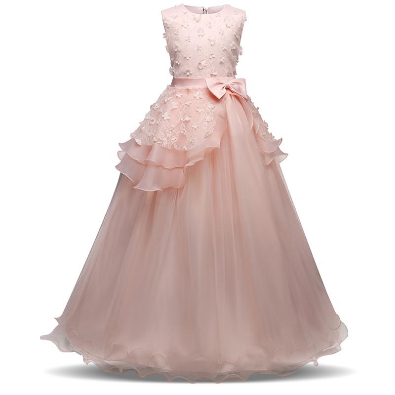 fc2502e348e Flower Girl Kid Princess Wedding Party Formal Ball Gown Dress ...