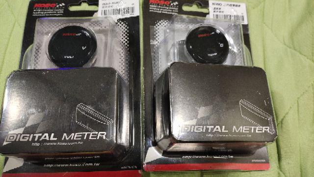"""2/"""" Digital Volt Meter Blue LED Display Smoke Lens 12 Volt DC 0-19.9"""