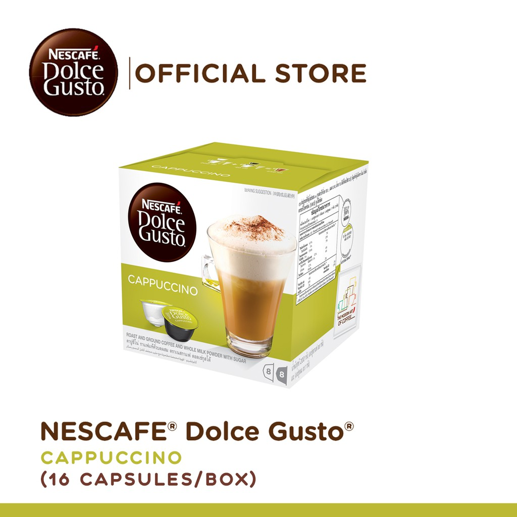 7fcf4f1929e NESCAFE Dolce Gusto Cappuccino Coffee - 16 Capsules Per Box
