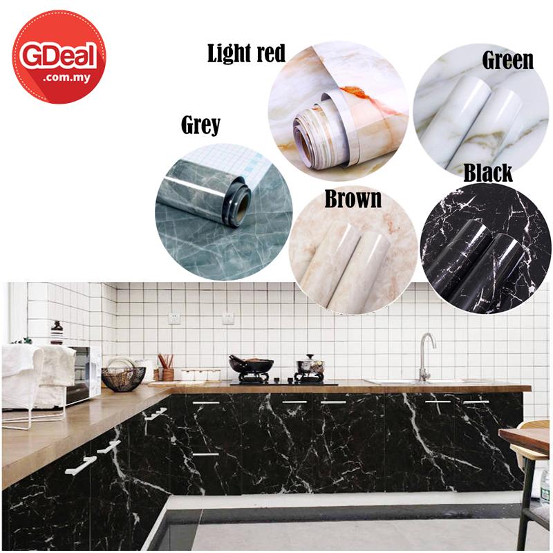 GDeal 3D Marble Wallpaper Waterproof Self Adhesive Home Deco Wallpaper DIY Wallpaper Furniture Wallpaper (60cm x 5meter)