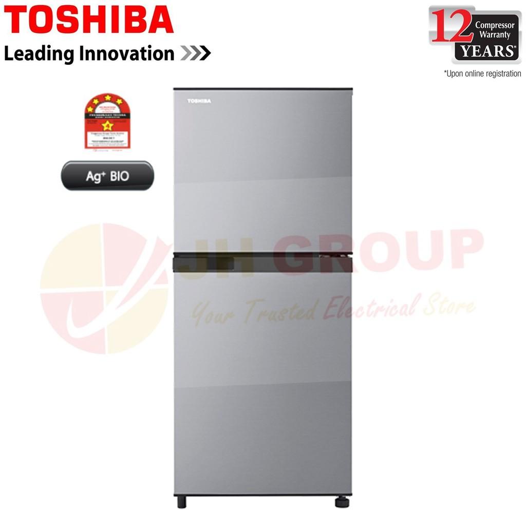 (2019 NEW MODEL) TOSHIBA GR-B22MP(SS) 203L 2 DOOR REFRIGERATOR