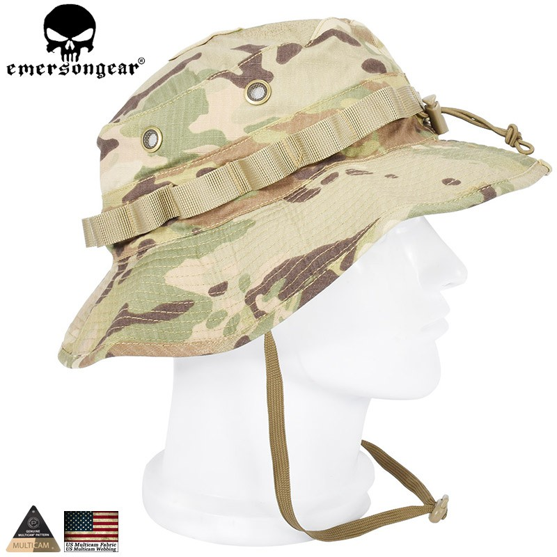 85139b87c25704 EMERSON Boonie Hat Military Tactical Army Anti-Scrape Grid Fabric Camouflage