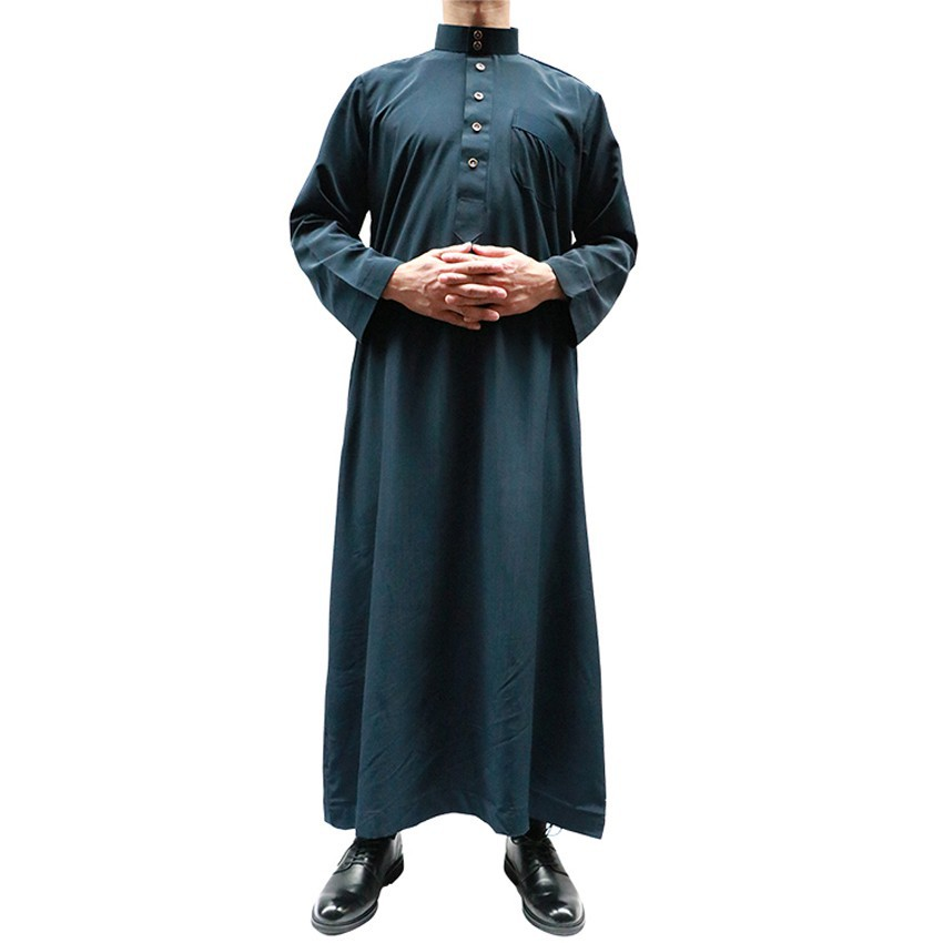 145c738e36c92 Man Winter Thick Full Sleeve Jubba Thobe Muslim Tradional Costumes Long  Solid Islamic Ramadan Arabic Kaftan Male Robe
