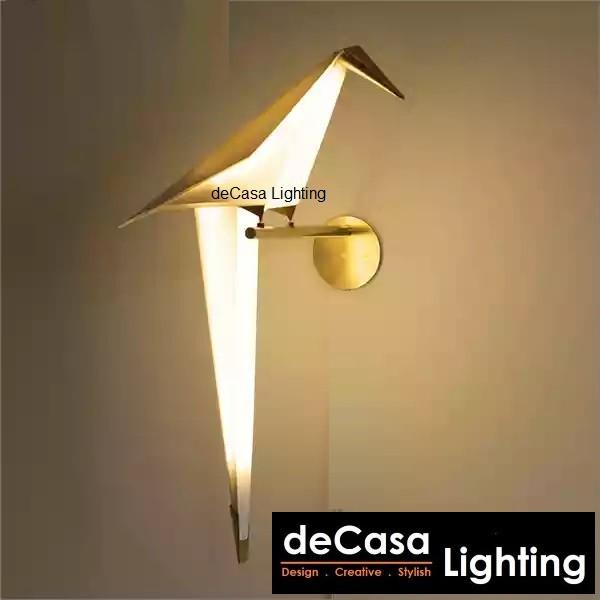 LED Bird Design Wall Lamp Decasa Lighting Bedside Lamp Creative Origami Paper Crane Wall Light (B5081-1-GD)