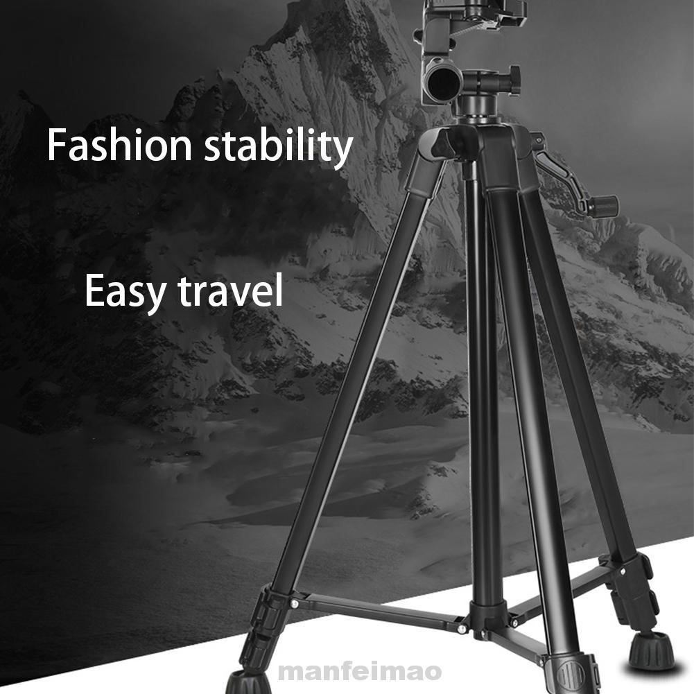 Color : Silver Portable Phone Live Selfie 3366 Tripod Stand DV SLR Camera Self-Timer Full Light Bracket Durable