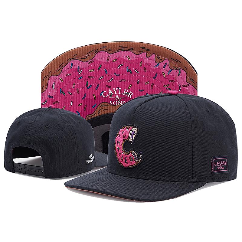 e90cffe40 2019 Cayler&sons Donut Street Culture Snapback Baseball Cap Skateboard Cap  NAVY
