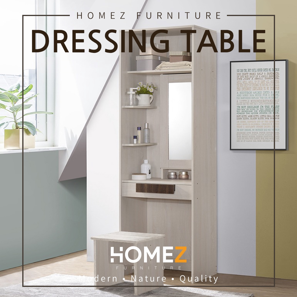 Homez Dressing Table Solid Board SADT917 - 2FT