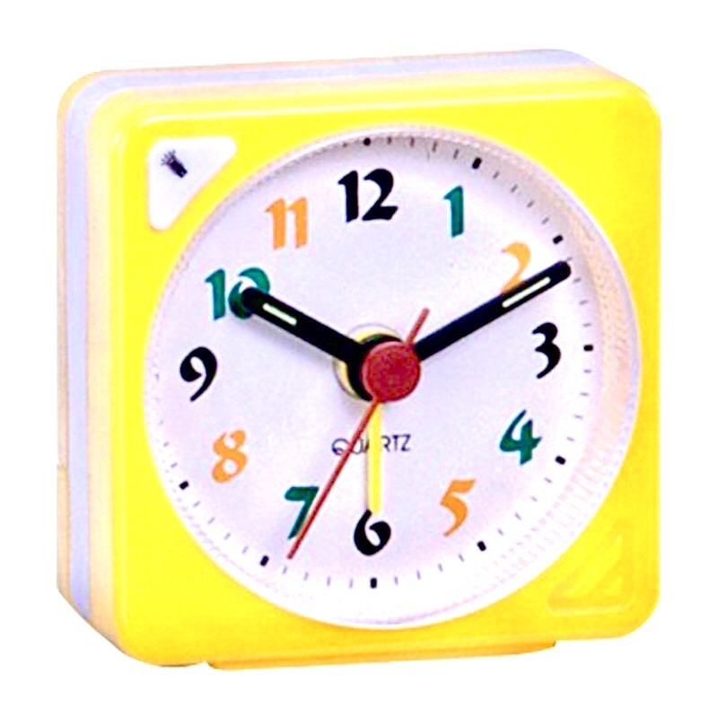 Pearl Mini Travelling Table Alarm Clock Quartz LED Light with Snooze Function Battery Operated