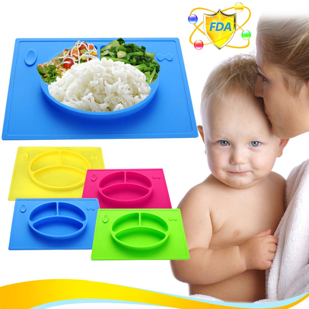 Nuby 3d Non Skid Monster Plate Shopee Malaysia Silicone Bib Dress
